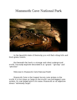 Mammoth Cave National Park for Kids