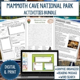 Mammoth Cave National Park Graphic Organizer and Word Search Bundle