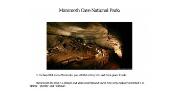 Mammoth Cave National Park PowerPoint for Kids