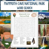 Mammoth Cave National Park Word Search