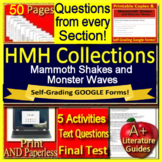 Mammoth Shakes and Monster Waves Grade 6 HMH Activities & SELF-GRADING GOOGLE!