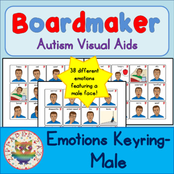 Man / Adult Emotion / Feelings Cards - Boardmaker / Autism