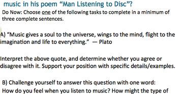 Man Listening To Disc Lesson Plan in Powerpoint Format CCLS Recommended Text