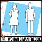 Man and Woman Outlines/Icons/Avatar Free Clip Art