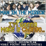 EARTH DAY, MAKE A DIFFERENCE, MAN IN THE MIRROR, LESSON, POETRY, ACTIVITIES