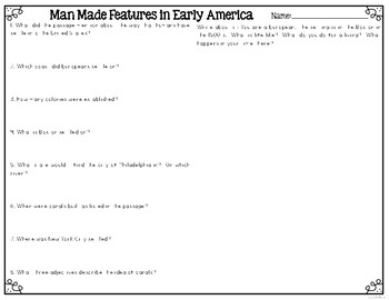 Man Made Features {Differentiated Close Reading Passages & Questions}