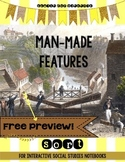 Man Made Features Sorting Activity for Interactive Notebook