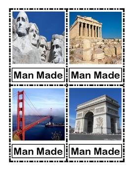 Man-made and Natural Visual Cards