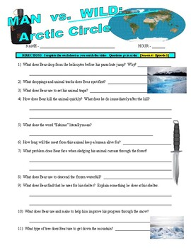 Man vs Wild Arctic Circle (video worksheet)