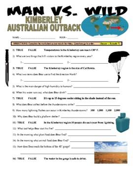 Man vs Wild Australia (video worksheets)