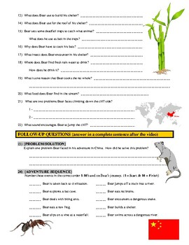 Man vs Wild China (video worksheet)