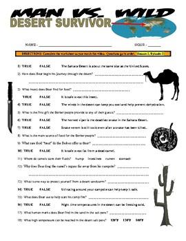 Man vs Wild Desert Survivor (Video Worksheet)