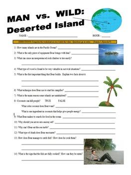 Man vs Wild Deserted Ocean Island (video worksheet)