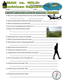 Man vs Wild Dominican Republic (video worksheet)