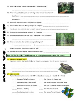 Man vs Wild Everglades, Florida (video worksheet)