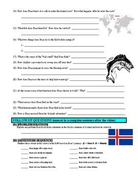 Man vs Wild Iceland Fire & Ice (video worksheet)