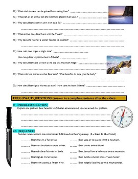 Man vs Wild Land of Ice, Siberia (video worksheet)