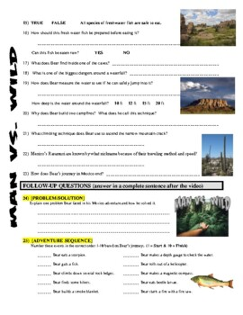 Man vs Wild Mexico Copper Canyon (video worksheet)