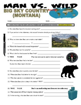 Man vs Wild Montana (video worksheet)