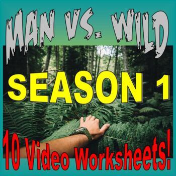 Man vs Wild Season 1 Bundle (10 Video Worksheets and More!)