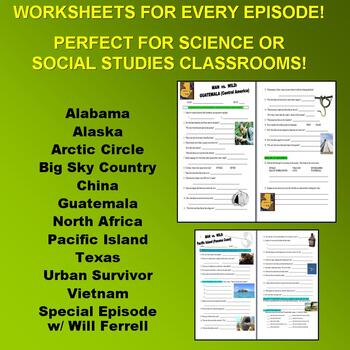 Man vs Wild Season 4 Bundle (12 Video Worksheets & More) - Discovery Channel