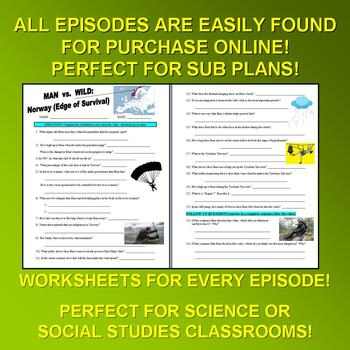 Man vs Wild Season 6 (Bundle 6 Episode Sheets and More) - Discovery Channel