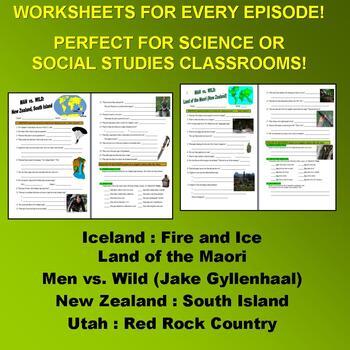 Man vs Wild Season 7 Bundle (5 Video Worksheets & More!)