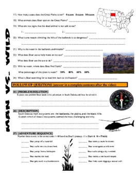 Man vs Wild South Dakota (video worksheet)