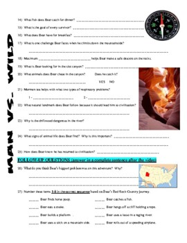 Man vs Wild Utah Red Rock Country (video worksheet)