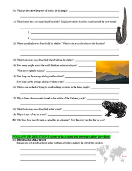 Man vs Wild Vietnam (video worksheet)