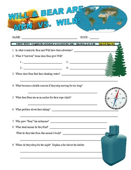 Man vs Wild with Will Ferrell (video worksheet)