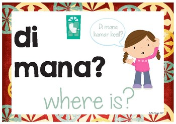 Mana Posters Indonesian | Question Posters | Bahasa Indonesia
