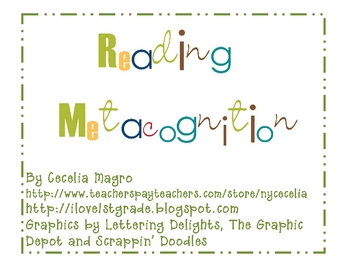 Manage Metacognition -Primary Reading Lessons/Tools