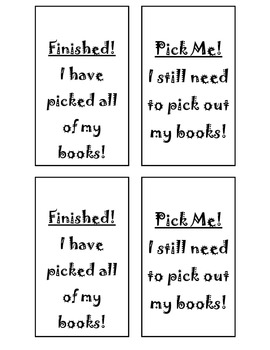 Management Cards for Picking Books out of Library