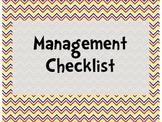Management Checklist