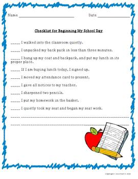 Management Checklists and Graphic Organizers