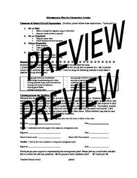 Management Plan Parent Letter