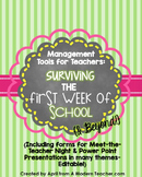 Management Tools for Teachers Surviving the First Week & Beyond SET 2