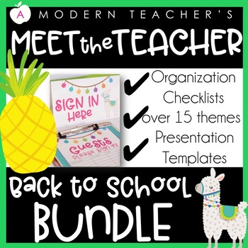 Organization Management Tools for the First Week & Beyond! BUNDLE