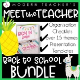 Meet the Teacher Back to School Toolkit and Teacher Organization Bundle
