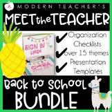 Meet the Teacher Back to School Pack First Week #tptnewyear19