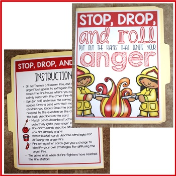 Managing Anger Folder Game for Elementary School Counseling Anger Management