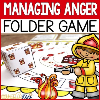 Managing Anger Folder Game for Elementary School Counseling