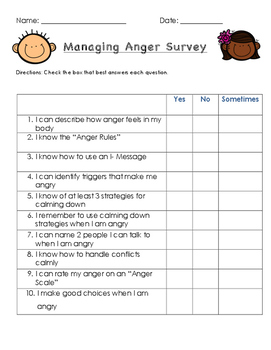 Managing Anger Survey