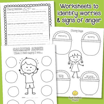 Managing Anger & Anxiety - Social Emotional for Classroom Management - US Letter