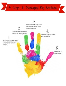 Managing BIG Emotions Poster