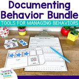 Documenting and Managing Behavior MEGA Bundle of social skills