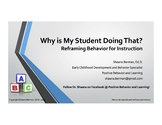 """Why is My Student Doing That?!"" Challenging Classroom Behavior,  Class 1"