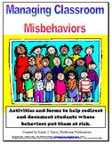Managing Classroom Misbehaviors:  Packet of Activities & D