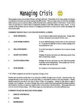 Managing Crisis Lesson